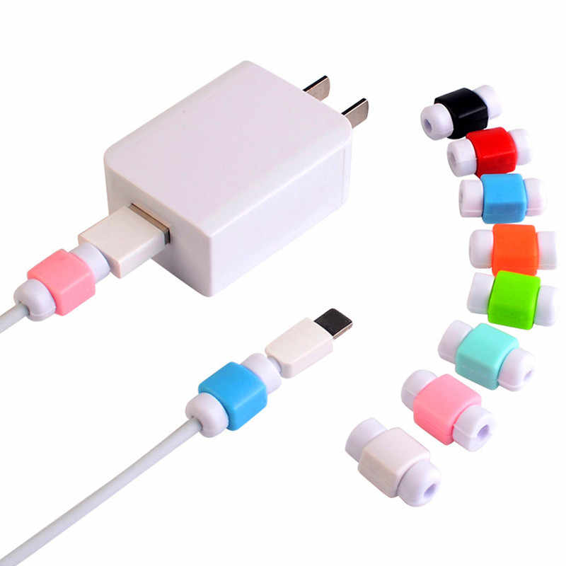 1Pcs USB Cable Protector Management for iphone for Android Mini Cute Earphone Cord Protection Wire Cover For Smart Phones