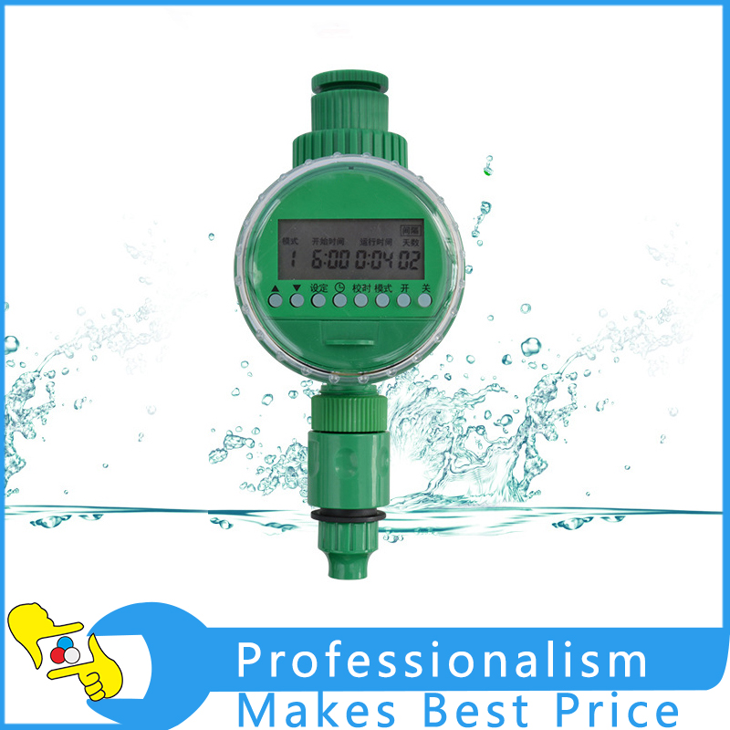 Intelligent LCD Display Irrigation Household Automatic Timer Drip Watering System Watering Device Controller household drip set drip irrigation equipment automatic watering device with tube drip drops 5 head five meters