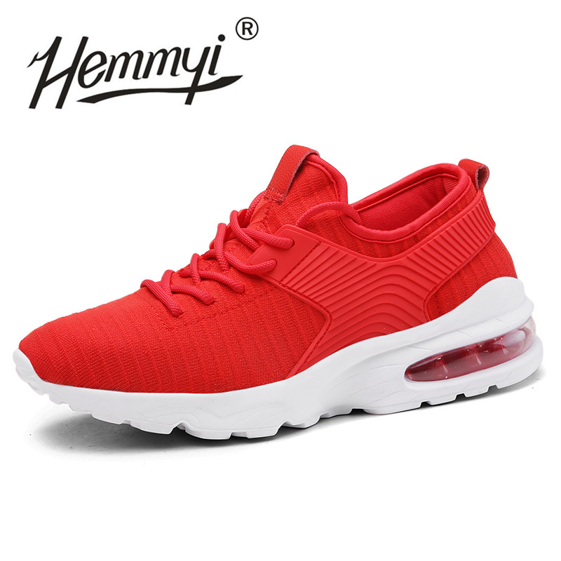 Hemmyi Summer Sneakers Shoes for Men Breathable Mesh Vulcanized Shoe Fashion White Comfortable Man Adult Footwear Trainers 39-45 sneakers