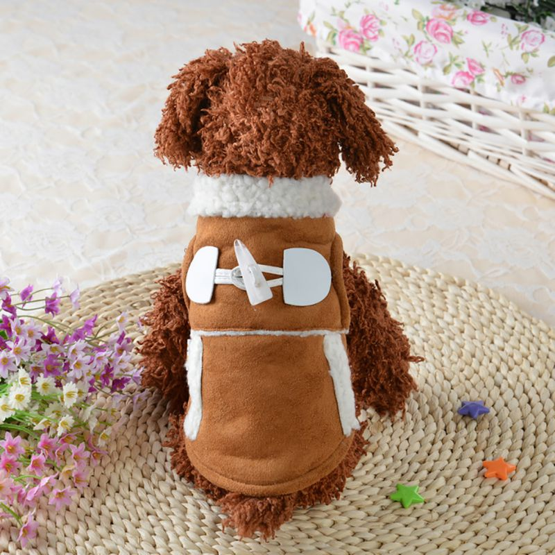 Winter Pet Dog Clothes Coat Apparel Dog Warm Motorcycle Vest Costume Clothing for Cat Small Dog Jacket Outfit