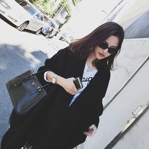 Image 4 - Kadın kış kaşmir panço pelerin zarif siyah sıcak atkılar moda Vintage Pashmina uzun şal kadın panço pelerin
