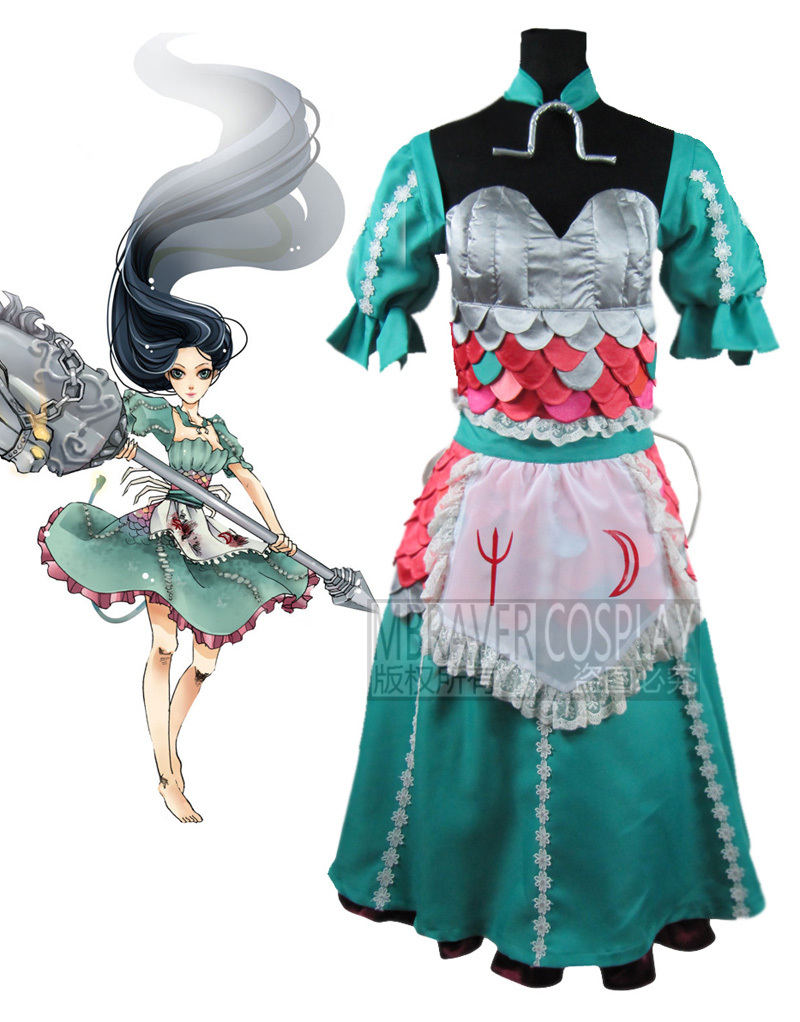 Popular Alice Madness Returns Siren Dress Cosplay-Buy ...