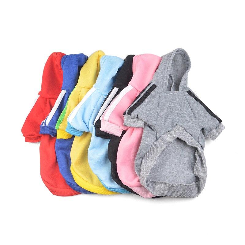 Собака одежда зимние теплые хлопковые толстовки с капюшоном Толстовка Pet пальто куртка одежда для кошки собаки чихуахуа Французский бульдо... ...