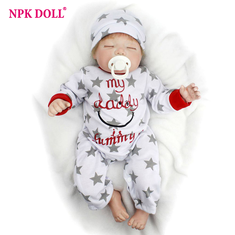 55cm Sleeping Baby Doll Handmade Doll Reborn Lifelike Alive Vinly Dolls for Kids Girls Birthday Gifts
