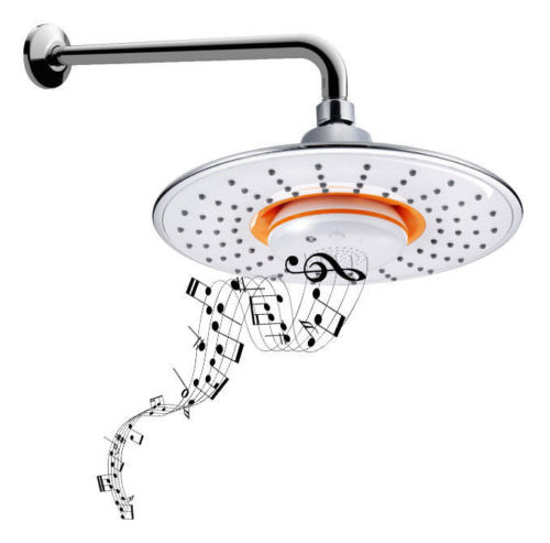 Round Bluetooth Music Showerhead Hands-free Call Shower Music Waterproof Speaker Showerhead цена