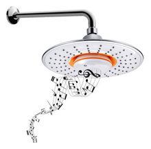 Round  Bluetooth Music Showerhead Hands-free Call Shower Music Waterproof Speaker Showerhead