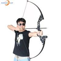 Стрельба из лука Охота Стрельба прямой лук 40lbs для правой руки Hunter открытый целевой Стрельба Рыбалка спортивные игры Рогатка лук