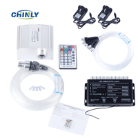 10W RGBW 28key RF Remote TWINKLE LED Fiber Optic Star Ceiling Light Kit 200pcs 0 75mm