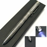 EDC LED Flashlight Tungsten Steel Head Stainless Steel Tactical Pen Outdoor Self Defense Multi Functional Defense