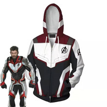 Movie Avengers: Endgame Hoodie Quantum Battle Suit Cosplay Costume Anime Sweatshirts Men Women College