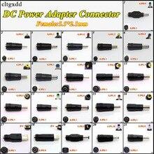 Cltgxdd conector adaptador de corriente CC, 1 Uds., Conector de cabeza de conversión de CC hembra 5,5*2,1mm, enchufe a macho 5,5*2,1/4,5*3,0mm para HP