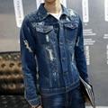 2016 de la alta calidad para novio camisas de hombre Denim Slim Fit camisas casuales para hombre nueva marca de ropa Chemise Homme L ~ 4XL