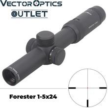 Векторная оптика Forester 1-5x24 охотничий оптический прицел с подсветкой точечная сетка с тонкой рамкой обзора для настоящего оружия протестирована на. 300