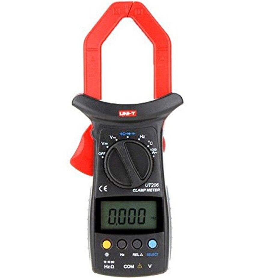 UNI-T UT206 3999 Count Auto Range DMM Digital Clamp Multimeters W/ Temperature Test Multimetro LCR Meter цена