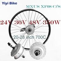 MXUS 350 Вт 24 В в В 36 В 48 В дюймов 26 дюймов Электрический велосипед Мотор заднего колеса DC мотор бесщеточный мотор контроллер высокой скорости Ка