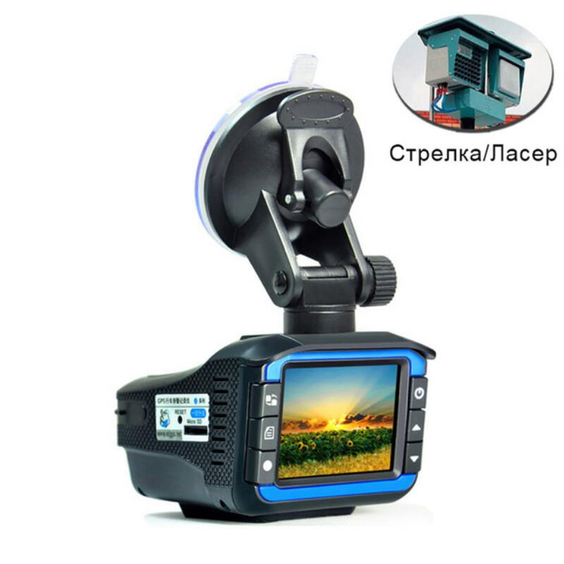 New 2 in 1 Car DVR Dash Cam Video Radar Speed Detector Night Vision Radar Detection 2 Inch HD LCD Display 720P Support 32G TF chuangzhuo 1 2 lcd intelligent full frequency conversion 360 radar detector for car black orange