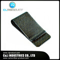 Real Carbon Fiber Gold  - Genuine 3K Twill-  Credit Card business Holder-Credit Card Cash Wallet L glossy Money Clip