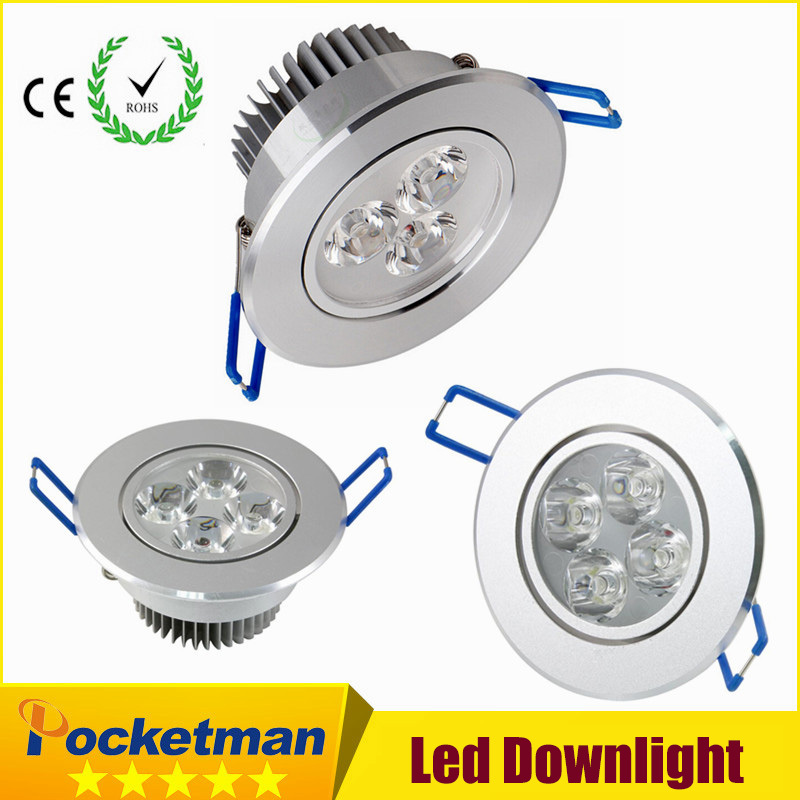2018 HOT led downlight 220v 9W 12W 15W downlight-led 85V-265V LED Techo empotrado LED Lámpara de pared Spot spot LED Driver