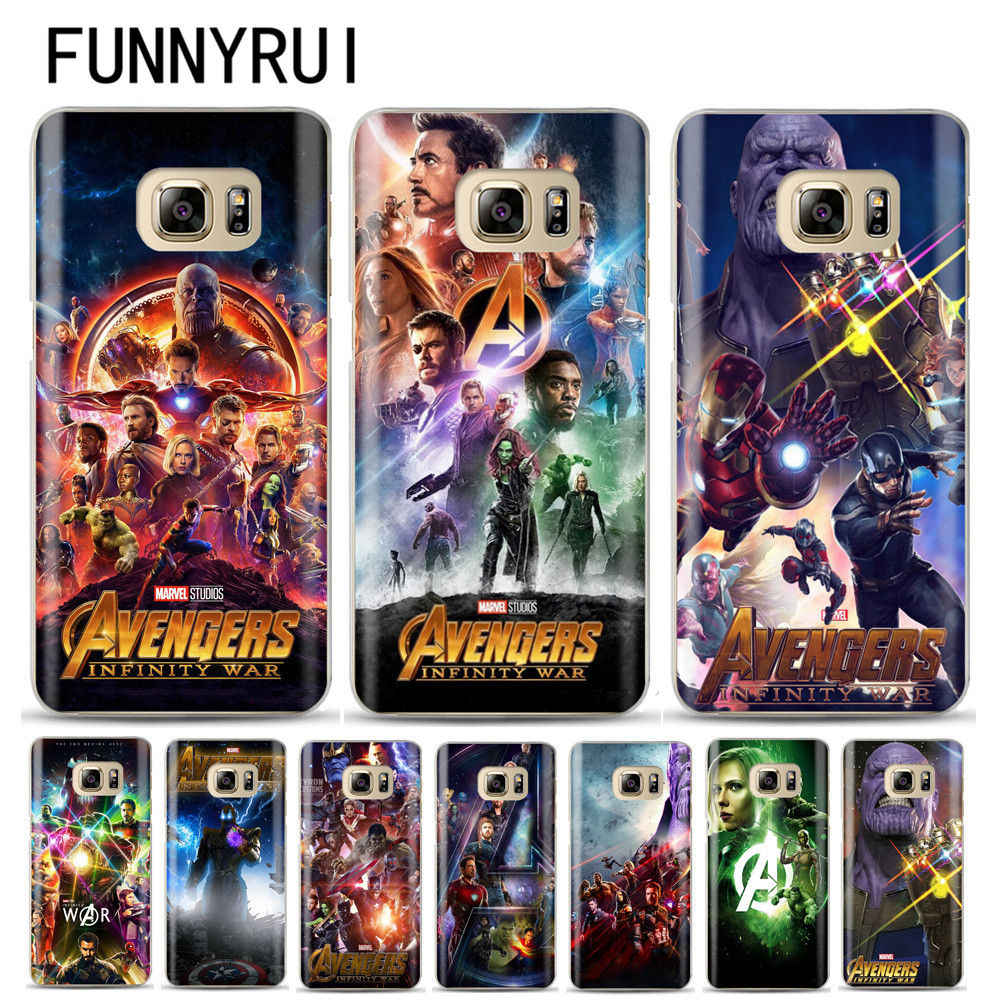 Avengers Infinity War Thanos Phone case Cover For Samsung Galaxy S6 S7 Edge S8 S9 Plus J3 J5 J7 A3 A5 A7 2016 2017 A8 Plus 2018
