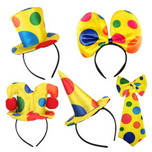 Clown Headband Hat Headbands Men Women Hair Accessories Stage Performance Halloween Party Supplies
