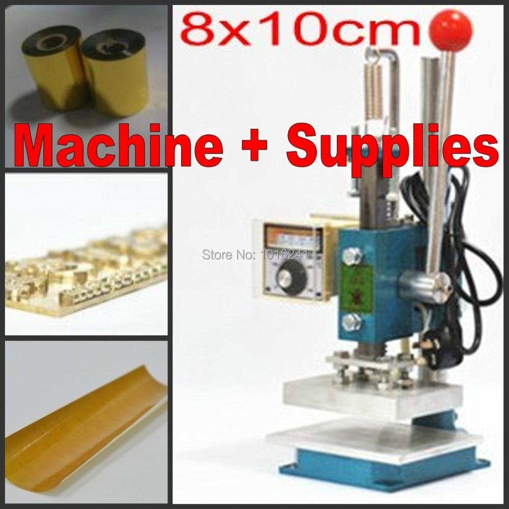 Nieuwe foliedruk machine lederen debossing machine 2 in 1 (10x8 cm) - Office-elektronica