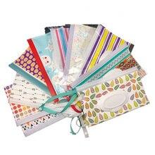 Экологичная коробка для детских салфеток с ремнем-защелкой, портативная раскладушка, косметичка, мешок для влажных салфеток, контейнер для салфеток, легко носить с собой, чистые салфетки