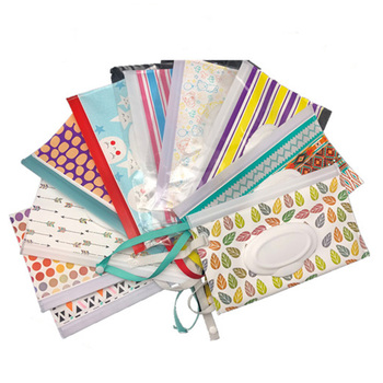 Eco-friendly Snap Strap Baby Wipes Box Portable Clamshell Cosmetic Pouch Wet Wipe Bag Wipes Container Easy-carry Clean Wipes