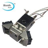 Blurolls UM2 Ultimaker 2 3D printer hot end full extrusion full kit 24V 25W heater PT100B sensor 0.4mm nozzle fan bracket, 3mm