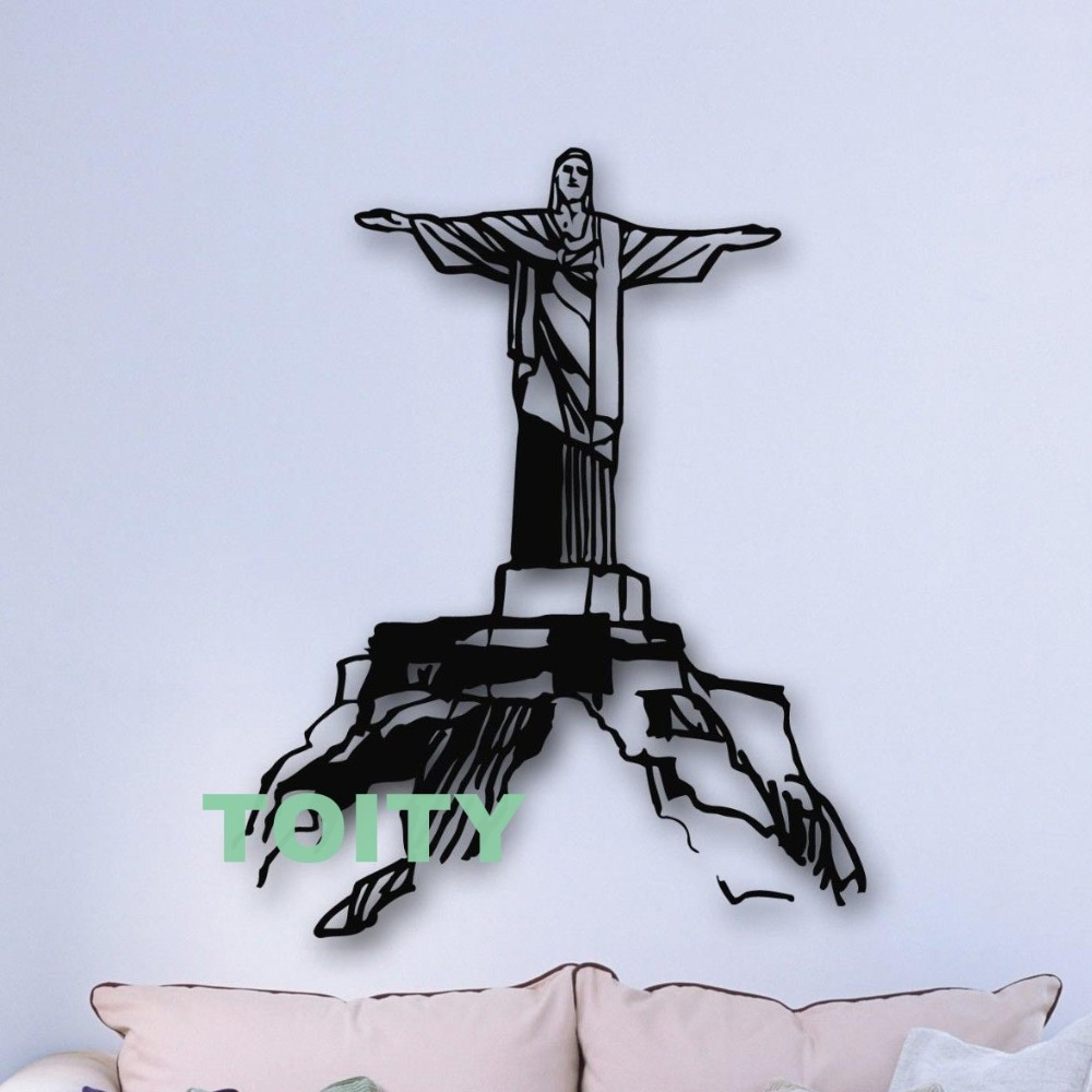 Wall Stickers Vinyl Decal Christ The Redeemer Statue Rio