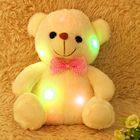20cm Lovely LED Colorful Glowing Mini Teddy Bear Plush Toy Obediently Appease Obedient Sleep Stuffed Plush Toy Kid Birthday Gift