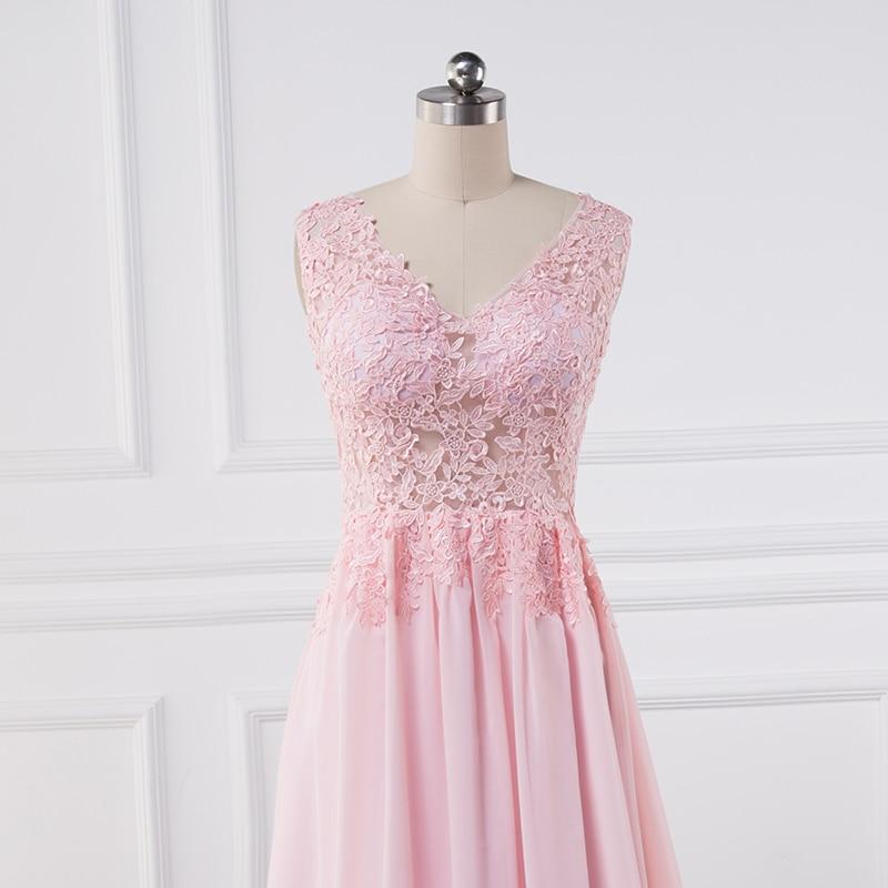 Sexy se gjennom Lace Appliques Evening Dresses 2018 pluss vestido de - Spesielle anledninger kjoler - Bilde 5