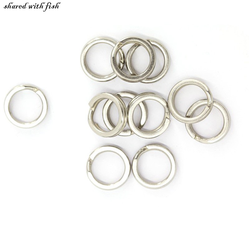 20 pcs/lot Stainless Steel Split Rings for Blank Lures Crankbait Hard Bait For Each Pack Bass Walleye Fishing ring