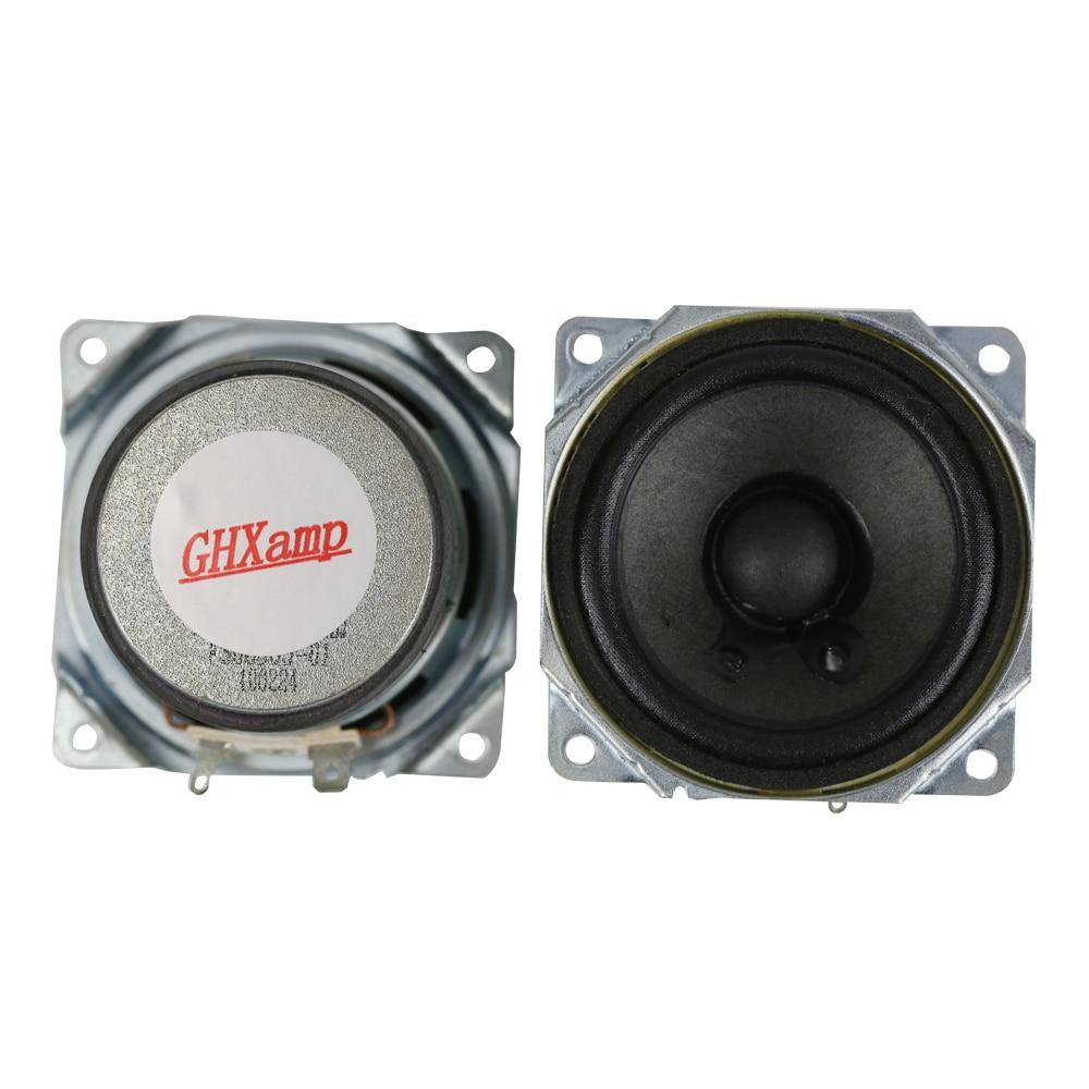 GHXAMP 4OHM 10W 2.5 inch Dual Magnetic Midrange Woofer Speaker Units Paper Basin Cloth Edge Sound Loudspeaker DIY 1 Pairs