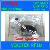 Omni ID Fit 200 uhf rfid тег металла 915 м 100 шт. в упаковке EPC c1g2 ISO18000 6C fit200 Малый металлические инструменты Спецодежда медицинская отслеживания устройс