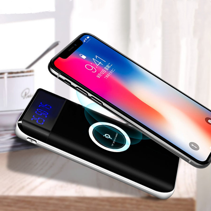 Qi Wireless Charging Power Bank 10000mAh Charger Wireless External Battery Pack Bank For IPhone Samsung