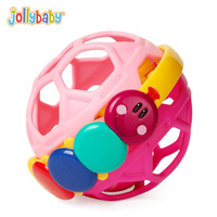 Jollybaby Bendy Ball Caterpillar Rattle Bouncing Toddler Fun Multicolor Flexible Activity Educational Toys For Children