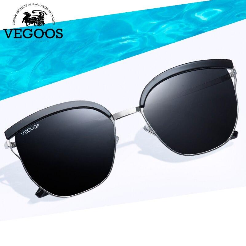 VEGOOS OCCHIALI Polarizzati Unico Occhiali Da Sole Quadrati Donne Unisex TAC Lens Design Unico Sottile Telaio di Guida All'aperto Occhiali Da Sole Retrò #6125