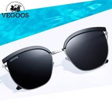 c6f4b5bb27f VEGOOS Polarized Unique Square Sunglasses Women Unisex TAC Lens Unique  Design Thin Frame Outdoor Driving Retro Sun Glasses 6125