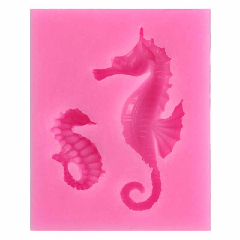 1 ADET Beast Sugarcraft Ejderha midilli Deniz Atı 3 D silikon kalıp Çikolata Fondan dekorasyon araçları Şeker Fimo Kil gumpaste kalıp