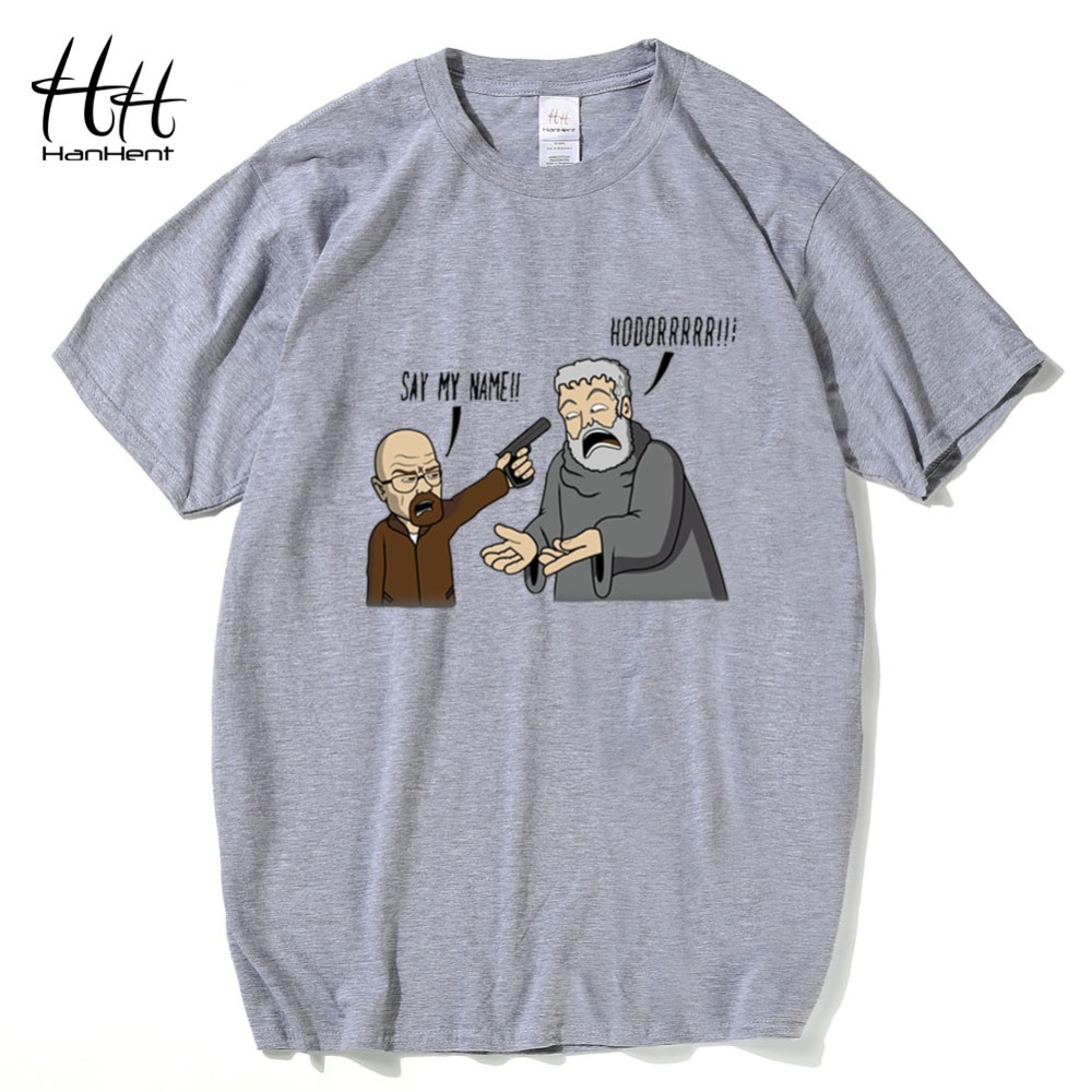 HanHent A Song Of Ice and Fire Breaking Bad T Shirts Men Hodor funny Man T-Shirts Cotton O Neck casual tshirt US Size Tops ...