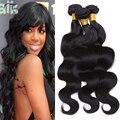 6A não transformados cabelo virgem brasileiro do cabelo humano onda do corpo personalizado 8-32 polegadas extensões de cabelo pacotes tecer cabelo brasileiro
