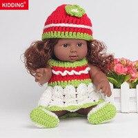 12 Inch Siliconen Afro-amerikaanse Zwarte Reborn Baby Pop Speelgoed Kind Als Liefde Poppen Realistische Babypop met Handgemaakte Trui