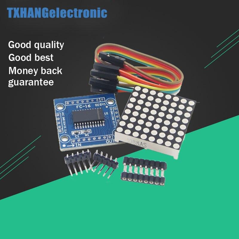 2pcs MAX7219 dot matrix module microcontroller module DIY KIT