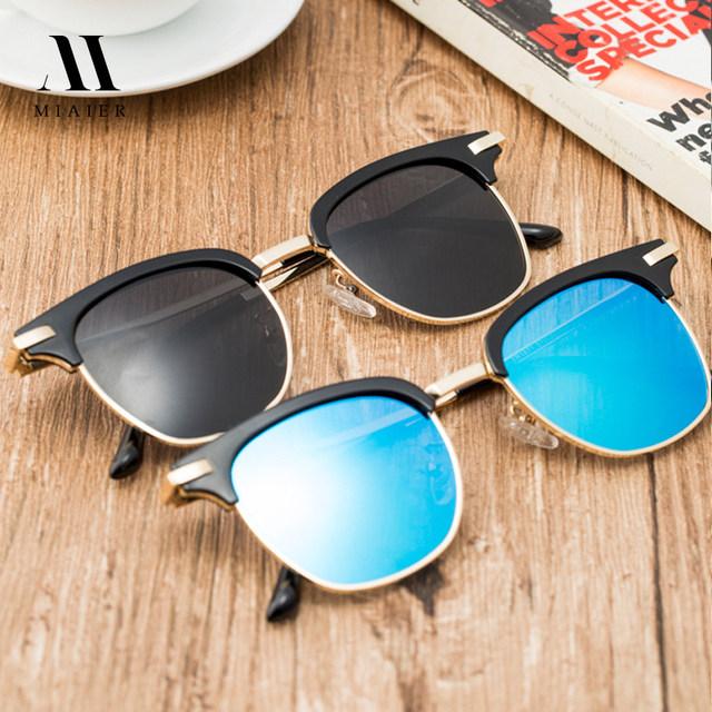 MIAIER Cat Eye Sunglasses Wome Men 2017 New Style Clumbmaster Polarized Sunglasses Women Brand Designer Party Free Shipping
