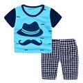 2016 conjuntos de roupas de verão crianças novo personagem de Alta qualidade conjuntos de roupas meninos 2-7 T crianças marca casuais conjuntos para meninos