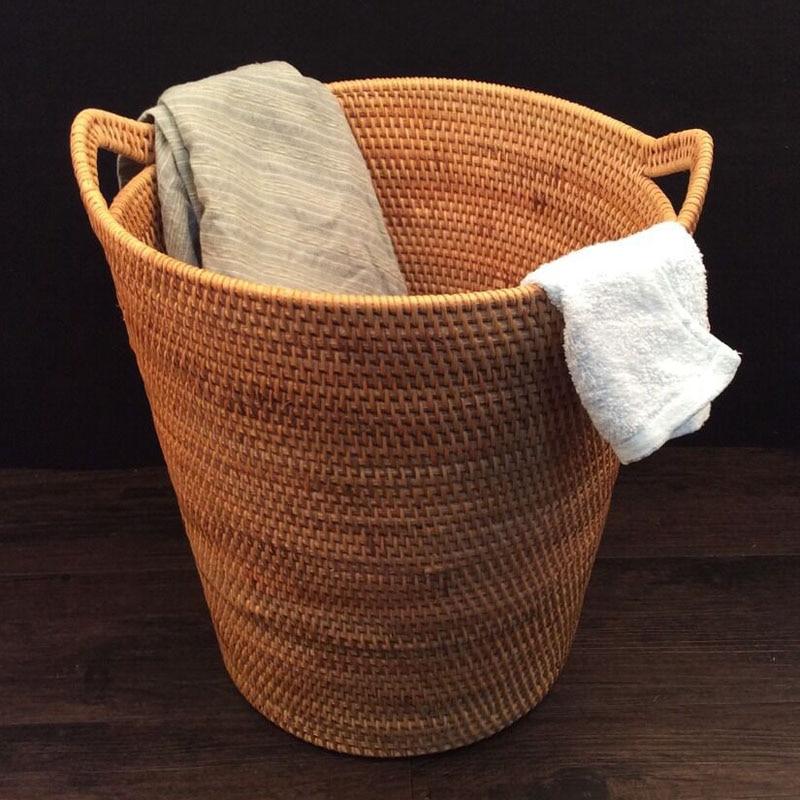 Cestas para la ropa de ratán Ropa sucia Almacenaje Juguetes - Organización y almacenamiento en la casa