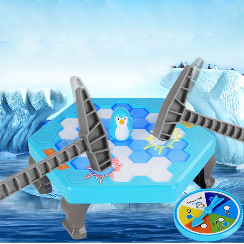 Small Penguin Trap Ice Breaker Game Save Ice Block Toy Funny Game Children Gift penguin ice breaking save the penguin great family toys gifts desktop game fun game who make the penguin fall off lose this game
