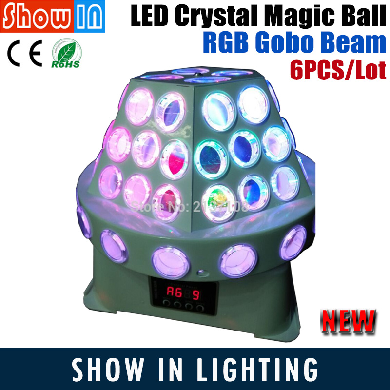RGB Gobo Beam LED Laser Projector Crystal Magic Ball Christmas Light DMX DJ Disco Party Wedding Stage Lighting Equipment new 30w spot gobo moving head light dmx controller led stage lighting disco dj wedding christmas decorations stage light par led