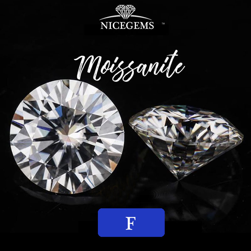 Loose-Stone Grown VVS1 Moissanite Diamond Hearts Clarity Nicegems Round And 8mm Cut 2CTW