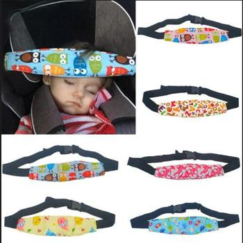 Baby Pillows Safety Car Seat Sleep Nap Head Band Children Head Protection Headrest Sleeping Support Holder Belt Resting Chair image